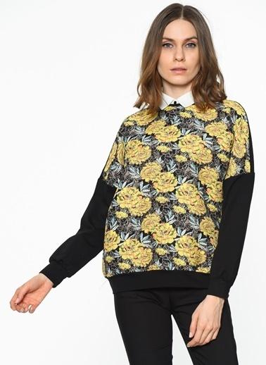 Koton Çiçekli Sweatshirt Sarı